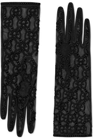 Gucci Damen Handschuhe - Handschuhe aus Tüll mit GG Motiv