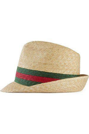 Gucci Filzhut aus gewebtem Stroh
