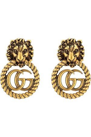 Gucci Uhren - Löwenkopf-Ohrringe mit Doppel G