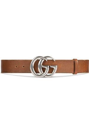 Gucci Herren Gürtel - Ledergürtel mit GG Schnalle