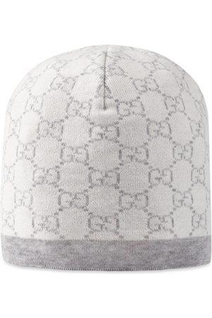 Gucci Baby Mütze aus Wolle mit GG Muster