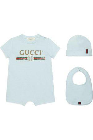 Gucci Baby Set aus Baumwolle mit Logo