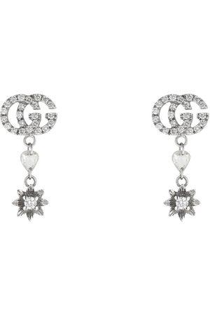Gucci Blumen-Ohrringe mit Doppel G und Diamanten