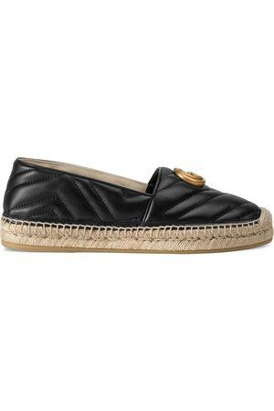 Gucci Damen Keilabsätze - Doppel G Espadrille aus Leder