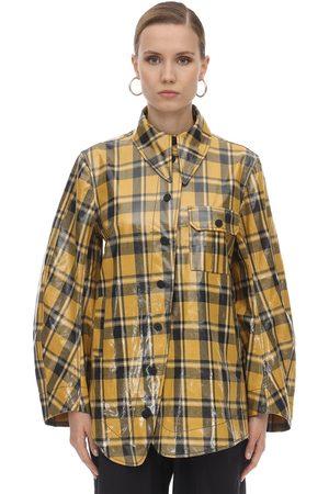 Ganni Coated Cotton Twill Jacket