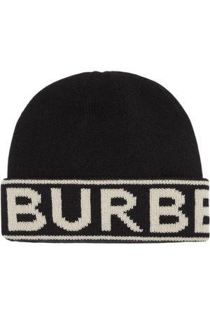 Burberry Kaschmirmütze mit Logo