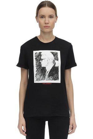 Karl Lagerfeld Printed Cotton Jersey T-shirt