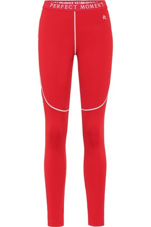 Perfect Moment Ski-Leggings mit Wollanteil