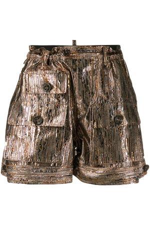 Dsquared2 Shorts in Metallic-Optik - Metallisch