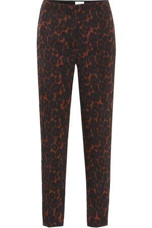 Erdem Hose Gianna mit Leopardenmuster