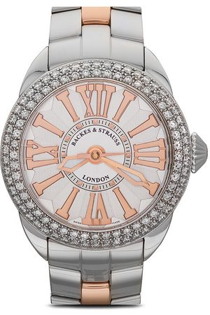 Backes & Strauss Piccadilly Steel' Armbanduhr, 37mm - WHITE