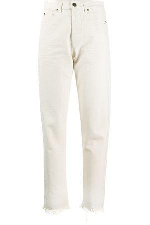 Saint Laurent Distressed hem jeans - Nude