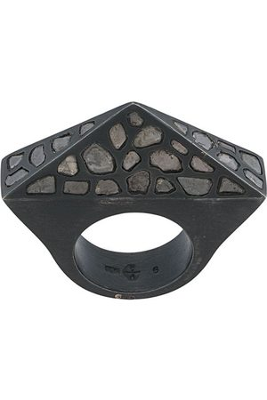 PARTS OF FOUR Cresent Bridge Pyramid' Ring - Metallisch