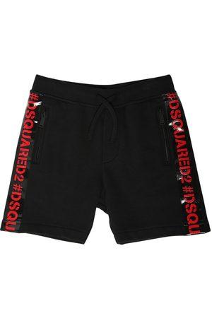 Dsquared2 Shorts Aus Baumwollfleece Mit Logo