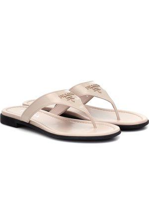 Prada Damen Sandalen - Sandalen aus Lackleder
