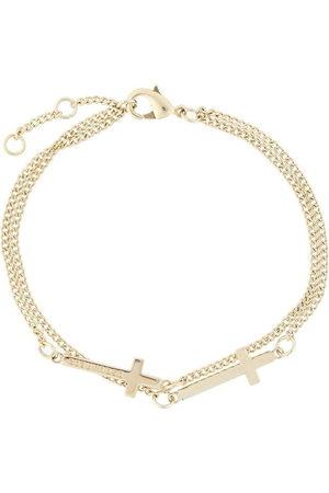 Dsquared2 Doppeltes Armband mit Kreuzen - Metallisch