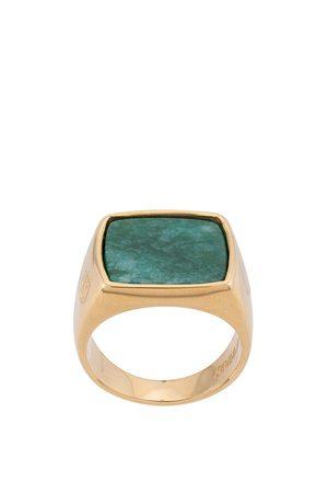 Nialaya Jewelry Eckiger Siegelring