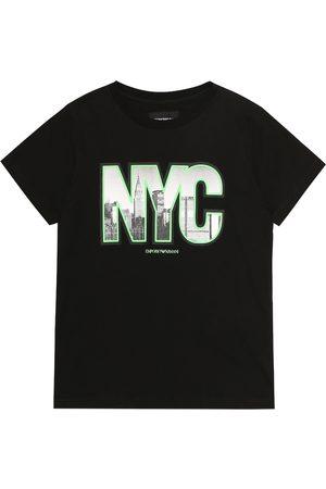Emporio Armani Bedrucktes T-Shirt aus Baumwolle