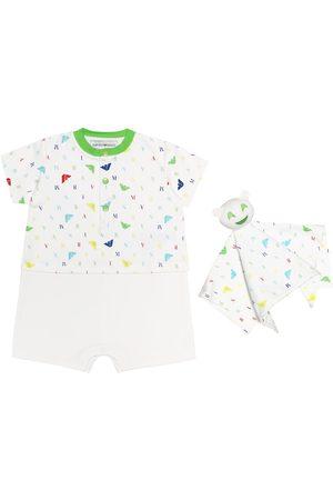 Emporio Armani Baby Set aus Strampler und Tuch