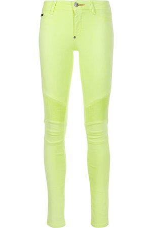 Philipp Plein Damen Skinny - Skinny-Jeans in Bikeroptik