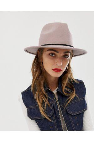 ASOS Größenverstellbarer Fedora-Hut aus Filz mit geflochtener Borte