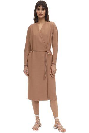 Agnona Belted Wool Blend Dust Coat