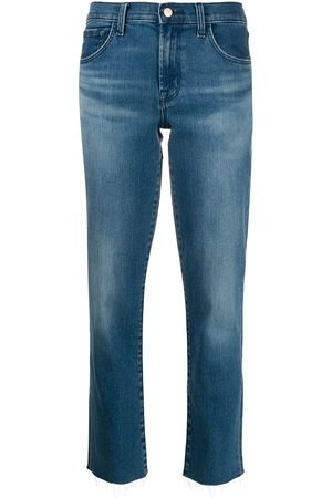 J Brand Taillenhohe Cropped-Jeans