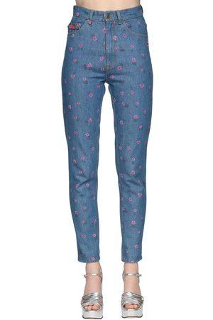 Marc Jacobs Damen Straight - High Waist Printed Straight Jeans