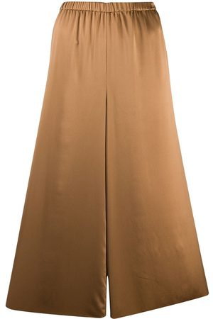 THEORY Cropped flared trousers - Nude