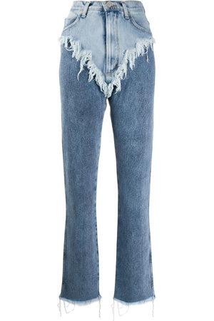 Natasha Zinko Ripped layered jeans