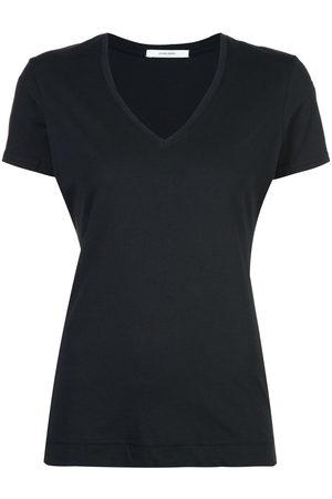 Adam Lippes T-Shirt mit V-Ausschnitt