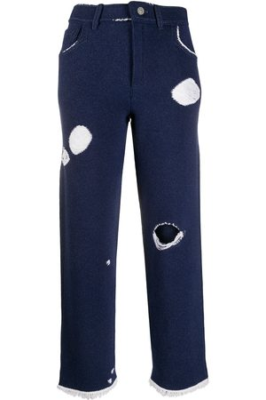 Barrie Denim-inspired knitted boyfriend trousers