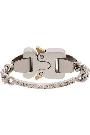 1017 ALYX 9SM Silver-tone logo-engraved bracelet