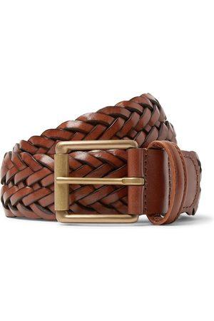 Anderson's Herren Gürtel - 3.5cm Black Woven Leather Belt