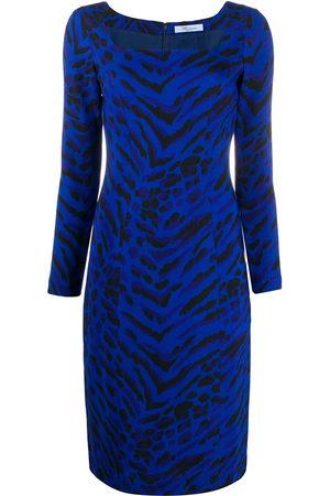 BLUMARINE Zebra print dress