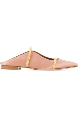 MALONE SOULIERS Maureene pointed strap mules - Nude
