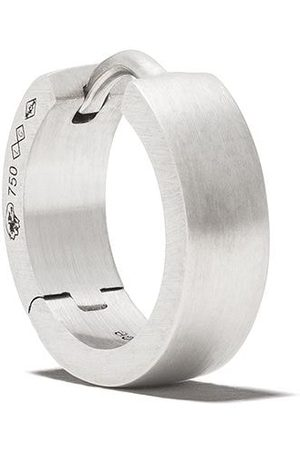 Le Gramme 18kt brushed white gold 25/10G Ribbon earring - SILVER