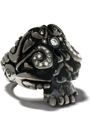 Duffy Ring im Totenkopf-Design - BLACK