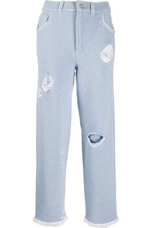adidas Damen Baggy & Boyfriend - Boyfriend-Hose im Jeans-Look