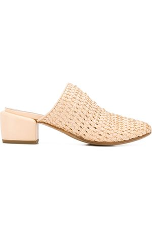 MARSÈLL Woven 60mm mules - Nude
