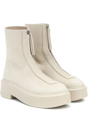 The Row Ankle Boots Zipped 1 aus Leder