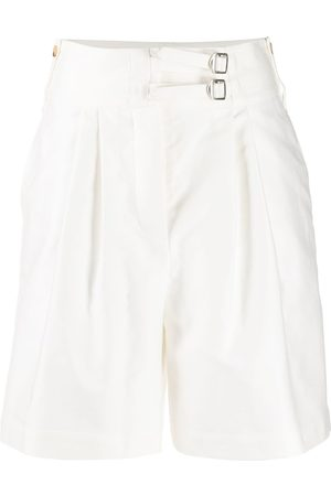 Lanvin Side buckle high-rise shorts