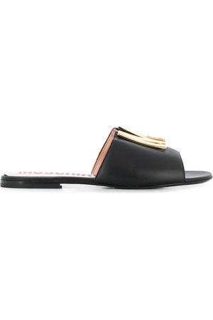 Moschino M plaque sandals
