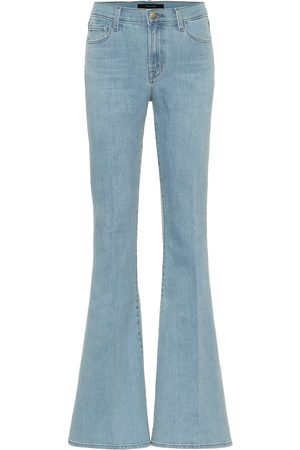 J Brand High-Rise Flared Jeans Valentina