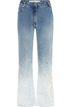 OFF-WHITE Mid-Rise Straight Jeans