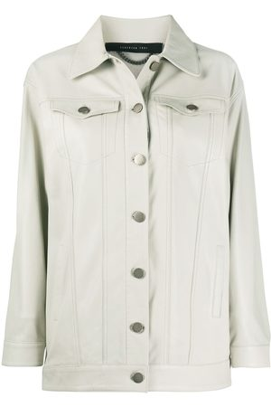 FEDERICA TOSI Buttoned leather jacket - Nude
