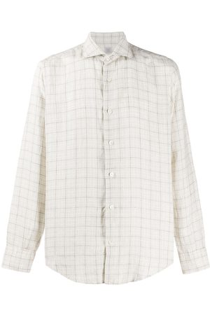 ELEVENTY Checked tailored shirt - Nude