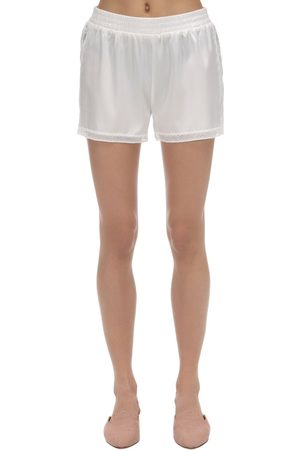 Stella McCartney Cressie Stretch Satin Shorts