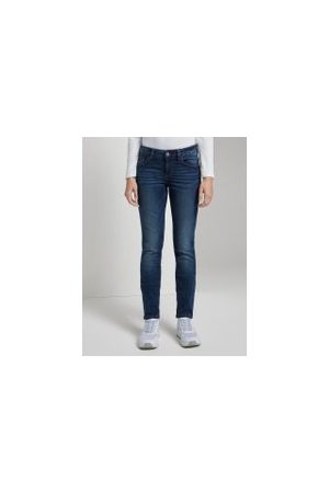 TOM TAILOR Alexa Slim Jeans , Damen, dark stone wash denim, Größe: 31/30