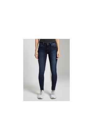TOM TAILOR Jona Extra Skinny Jeans, Damen, dark stone wash denim, Größe: 32/32